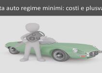 vendita auto regime minimi costi e plusvalenze