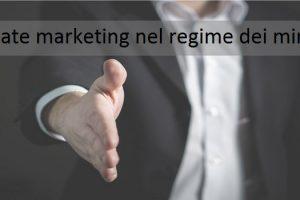 affiliate marketing nel regime dei minimi