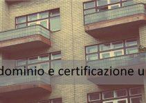 condominio e certificazione unica