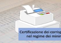 certificazione dei corrispettivi