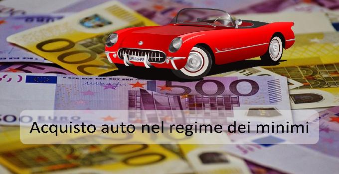 acquisto auto nel regime dei minimi