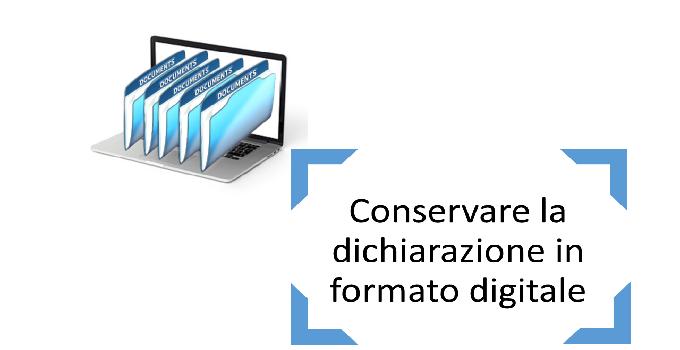 conservare la dichiarazione in formato digitale