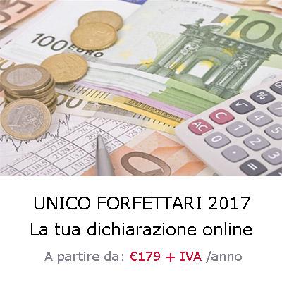 unico forfettari 2017 il servizio per la tua dichiarazione online