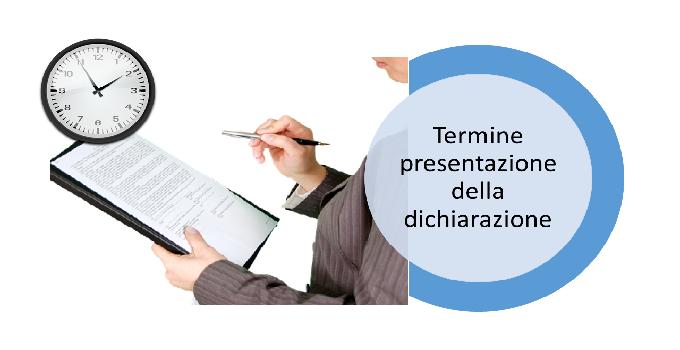 il termine per la presentazione della dichiarazione