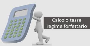 calcolo tasse regime forfettario