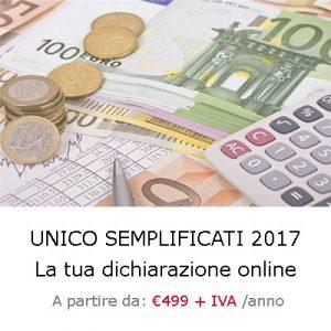 dichiarazione unico semplificati 2017