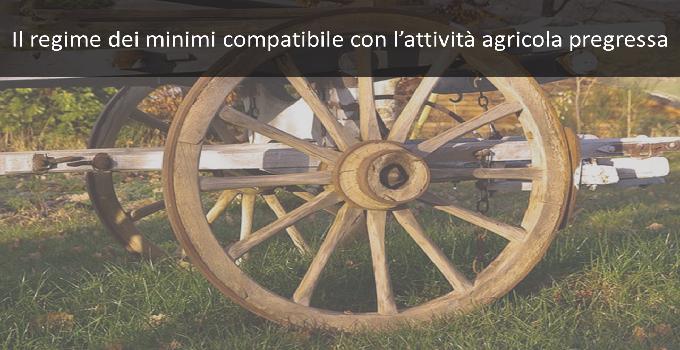 il regime dei minimi compatibile con l'attività agricola pregressa