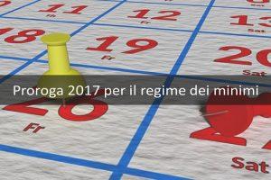 proroga 2017 per il regime dei minimi