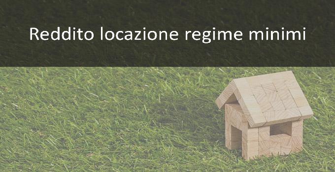 reddito locazione regime minimi