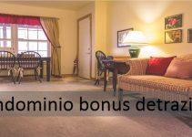 condominio bonus detrazioni