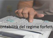 la contabilità del regime forfettario