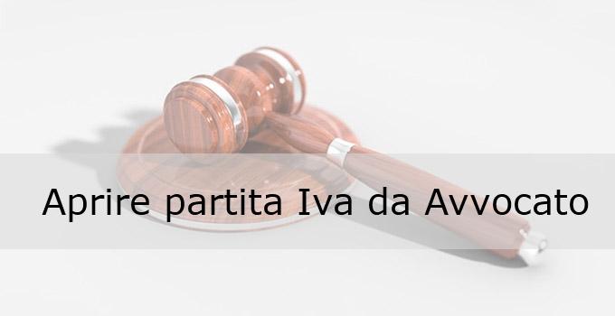 Aprire partita iva da avvocato